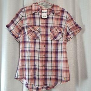 NWT Carhartt Brogan Lightweight Short Sleeve Shirt